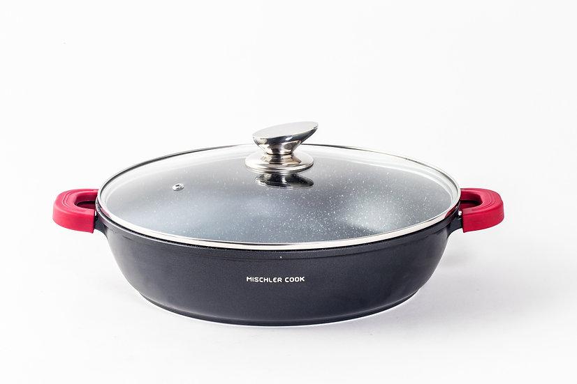 Low casserole, 32cm, black