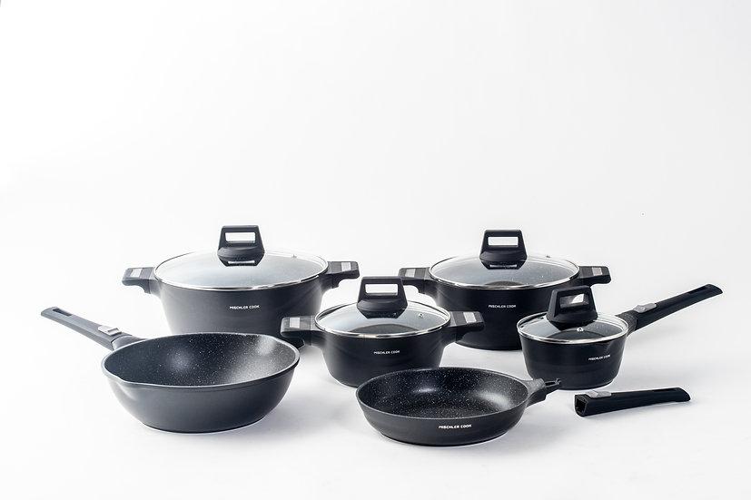 Die cast aluminium set, 10 pieces - black