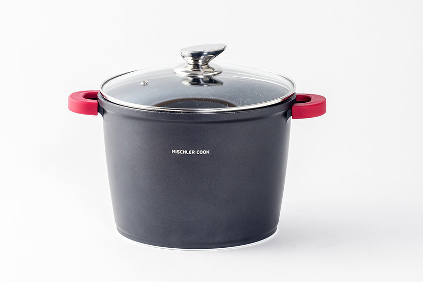 Deep casserole, 24cm, black