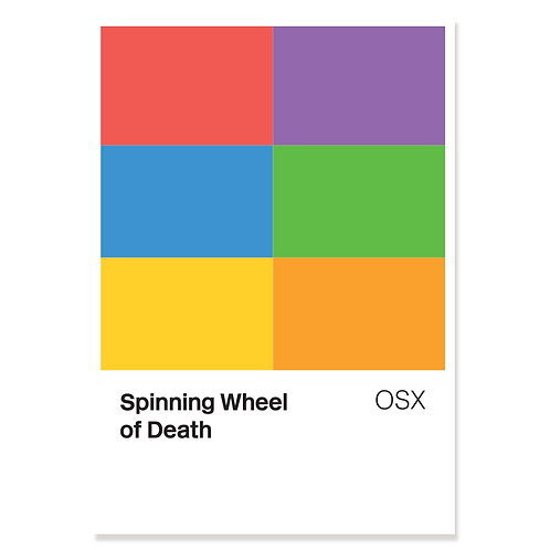 Spinning Wheel of Death (Colour Chart) – Print