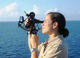 Use of a sextant