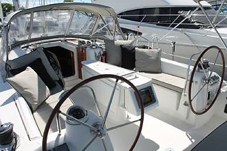 Cockpit and helm on Osprey
