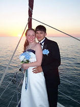 A wedding on our charter boat Osprey