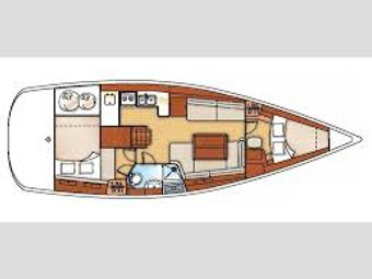 Beneteau 40 typical layout