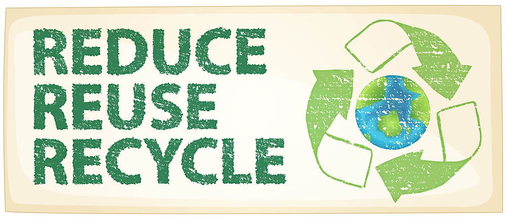 Principle of reduce, reuse, then recycle