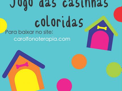 Jogo de pareamento das casinhas coloridas