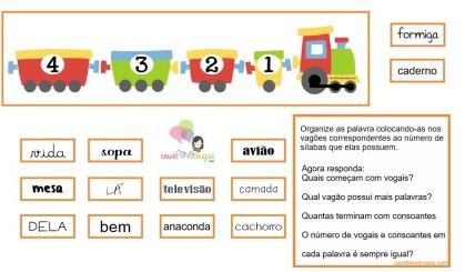 Trem de sílabas