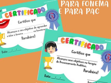 Certificados para PAC e Instalação de Fonemas