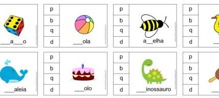 Atividade p b d q letras visualmente parecidas