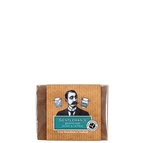 ME009 Gentleman's - Whisky & Oatmeal Organic glycerine  soap 140g