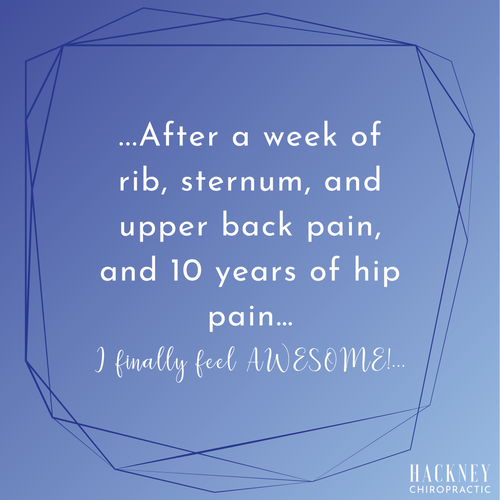 Wow! I just had my first chiropractic appointment in 10 years, and I was quite nervous because I knew my body was all out of whack. Dr. Daniel was very informative and gentle with his approach, and I now feel the best I have in a long time! After a week of rib, sternum, and upper back pain, and 10 years of hip pain…I finally feel AWESOME! I can't wait to go back in a couple days!  – Ariana K