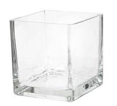 10cm x 10cm Pressed Glass Cube Vase.jpg