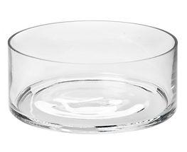 25cm x 9cm Glass Float Bowl Cylinder Cle