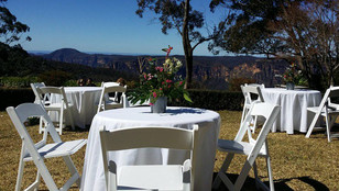 White Folding Gladiator Chairs and 3ft r