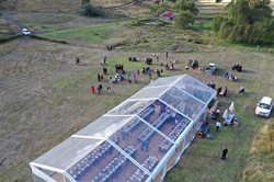 10 x 25m clear roof marquee