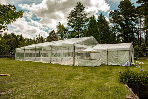 6x6m structure cook tent connect to main