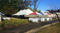 9x13.5 Rope and Poll Marquee with Fete Stalls