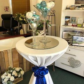 Martini Vase double blue & silver.2 - Co