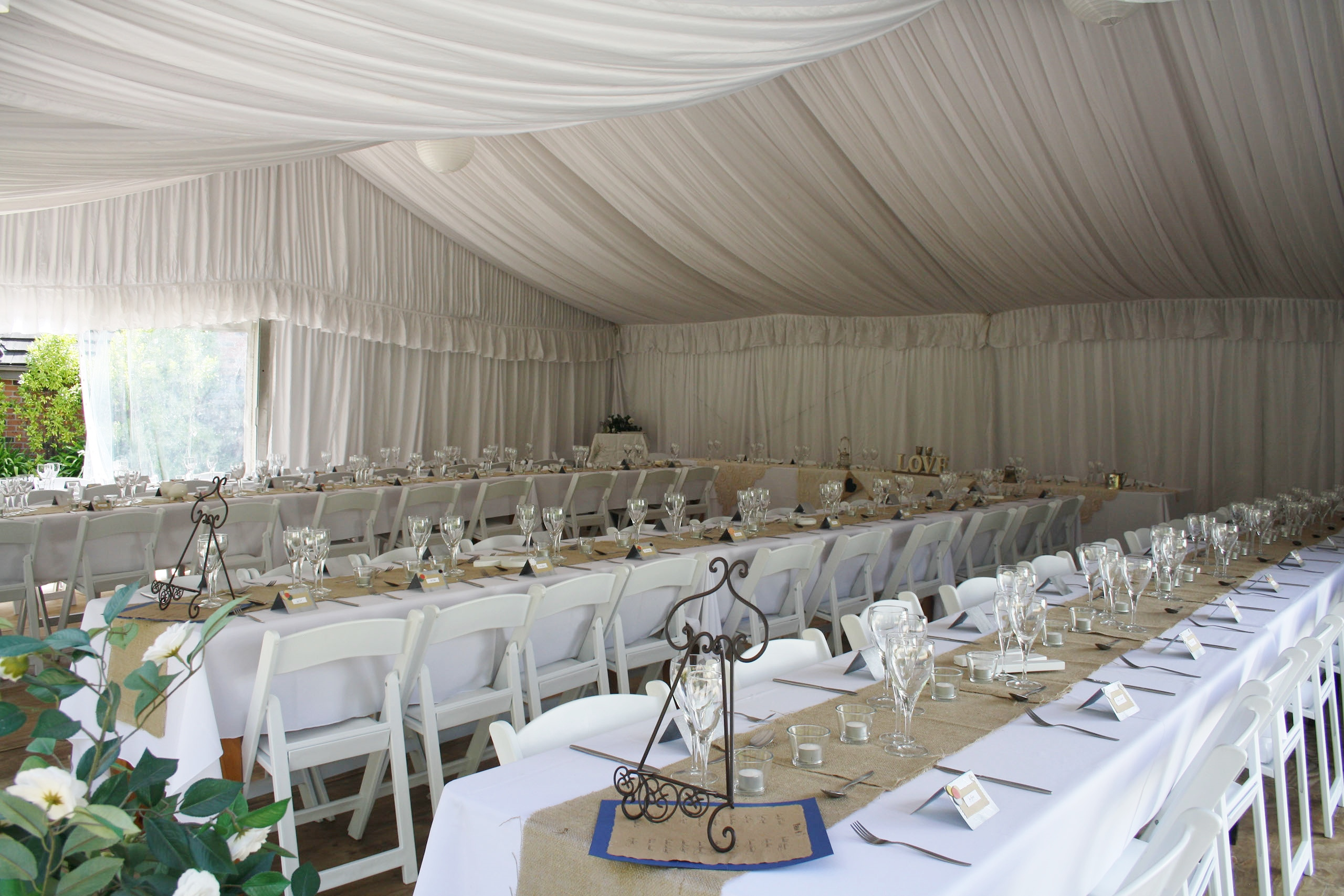 marquee wedding blue mountains