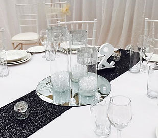 Trio Silver mesh cyliner vases with roun