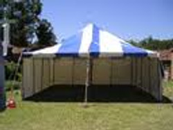 6x6 blue and white marquee