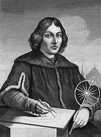 科学者 ガリレオの絵 コンパスをもって天体観測をしている様