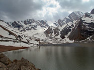 Mutnyi Lake in Fann Mountains in Tajkistan