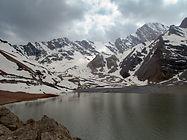 Mutnyi Lake in Fann Mountains in Tajkistan