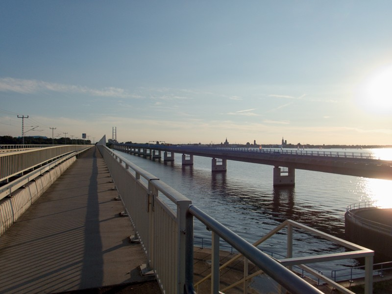 Starý a nový most do Stralsund