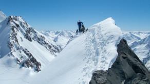 Hinterer Brochkogel na skialpech na pohodu