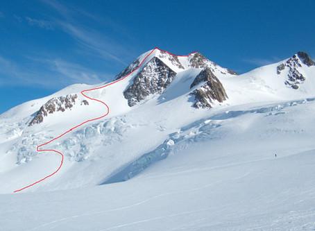 Skialpové taškařice kolem Taschachhaus - Sexegertenspitze a severka Wildspitze