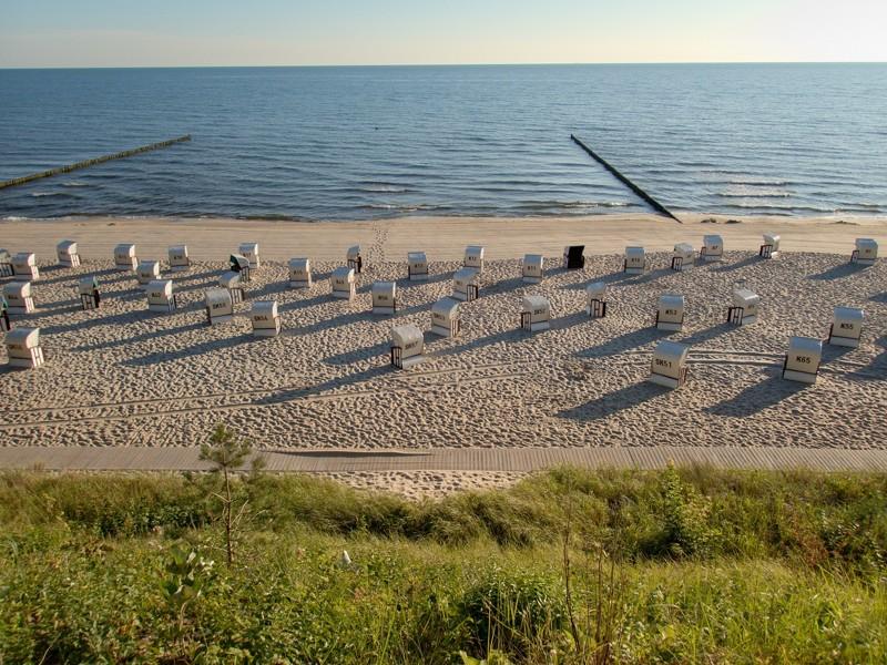Sedačky na pláži