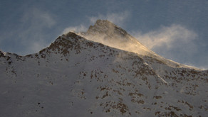 Větrný Rainerhorn na skialpech