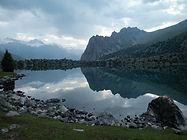 Alaudin Lake in Fann Mountains in Tajkistan