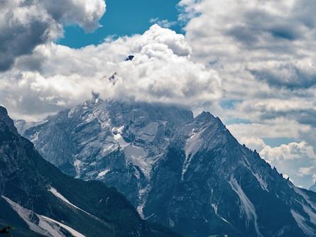 Monte Antelao, skalnatá pyramida v srdci Dolomit
