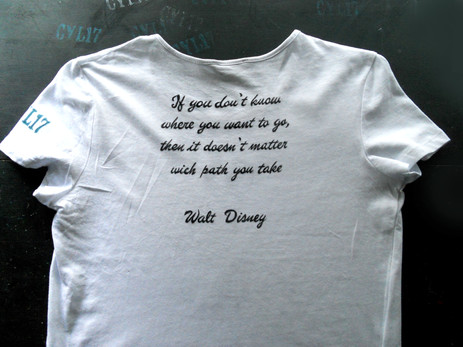 W Disney_retro Handpainted T Shirt