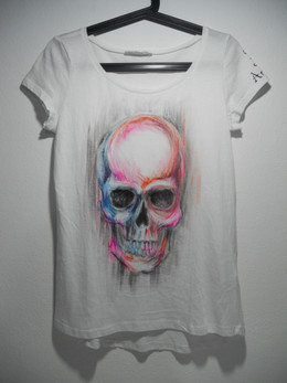 Watercolors skull