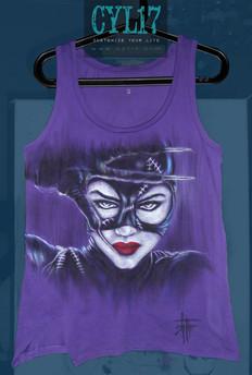 Catwoman TShirt dipinta a mano