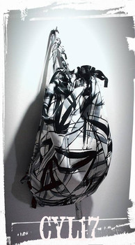 Zainetto in cotone bianco e nero - Backp
