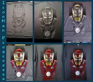 T Shirt IronMan, progress...
