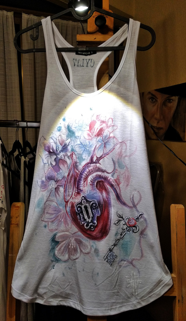 Heart_Handpainted TankTop