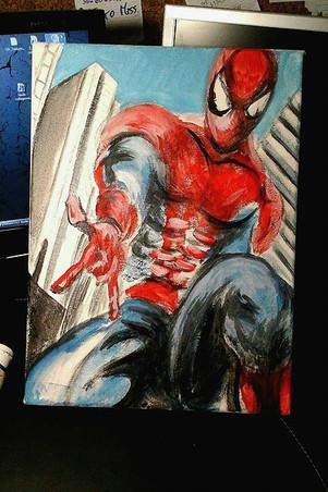 Spiderman Acrilico su tela cm 20x30.jpg