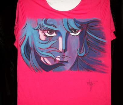 T Shirt Lady Oscar , disegnata e dipinta