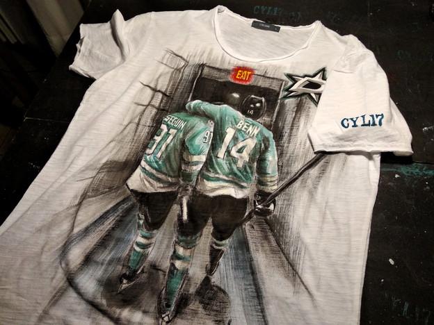 Dallas Stars_Handpainted T Shirt