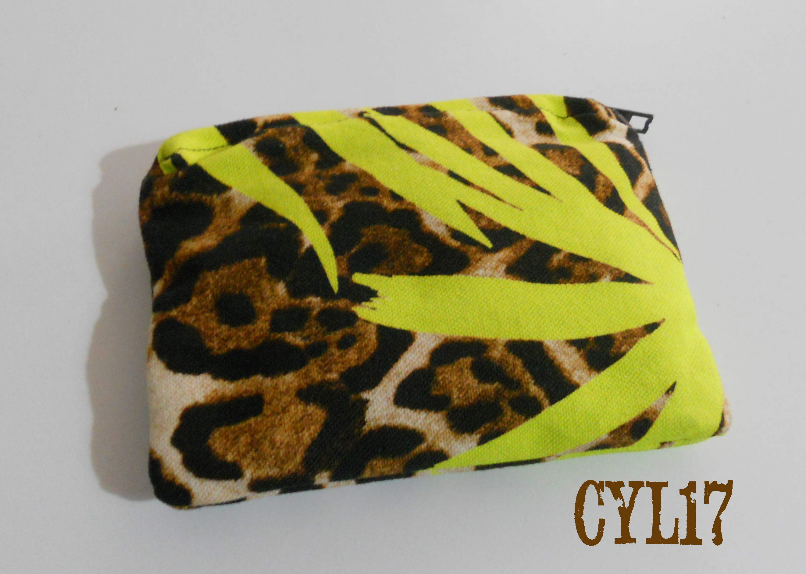 Bustina borsa piccola porta monete animalier verde lime -Coin case mini bag coin purse case green li