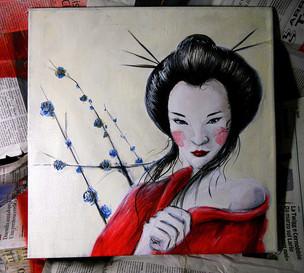 Geisha Acrilico su tela cm 40x40.jpg