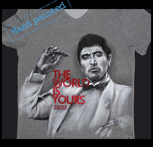 """T Shirt """"Scarface"""" """"Al Pacino"""", """"Tony Montana"""""""