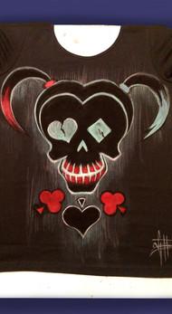 T Shirt Harley Queen, disegnata e dipint