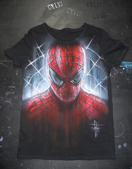 Spiderman_Handpainted T Shirt
