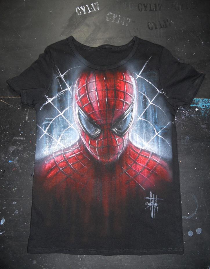 Spiderman_Handpainted T Shirt